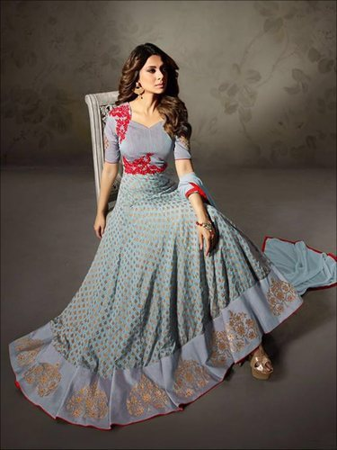 a37e8f9035 Silk Party Wear Indian Ethnic Designer Anarkali Suit, Rs 3350 /piece ...