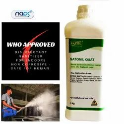 Disinfectant Chemical Sanitizer for Cars, Buses, Railway Coaches and Indoors of Work Places