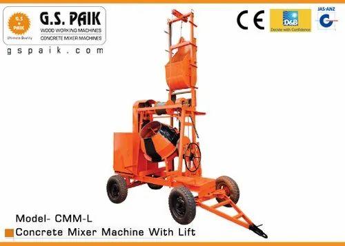 Concrete Mixer Machine with Lift 45'