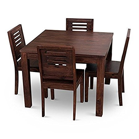 Wonderful Home Edge Solid Wood 4 Seater Wooden Dining Table Set