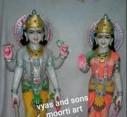 Marble Laxmi Vishnu Ji Murti