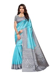 Joya silk printed saree with blouse