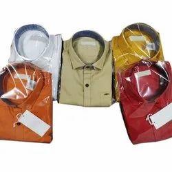 Collar Neck Formal Mens Cotton Plain Shirt