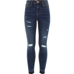 Girls Ripped Rough Denim Jeans, Size: 28 to 34