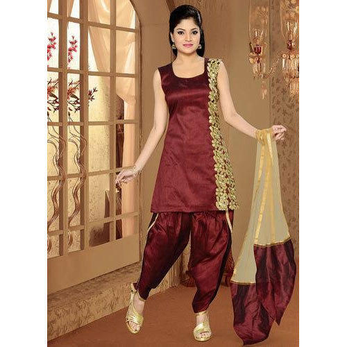 Party Wear Silk Salwar Suit