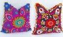 Suzani Embroidered Suer Cushion Cover