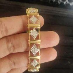 Real Diamonds Party Wear Diamond Bangle Pair