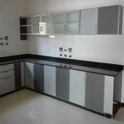 Modern White And Grey Aluminium Modular Kitchen Cabinet Rs 900 Square Feet Id 20232818162