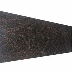 Polished Lather Brown Granite Slab, Thickness: 5-10 mm