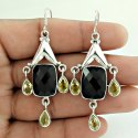 Amethyst Gemstone Sterling Silver Earrings
