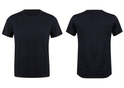 Round Neck T Shirt (Black Melange)