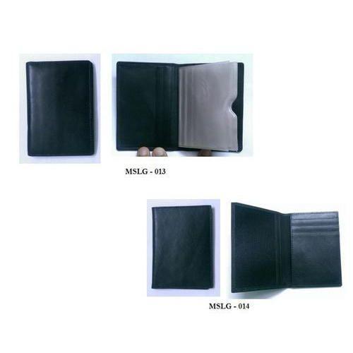 Black Leather Plain Business Card Holder 356f2e7b3a67