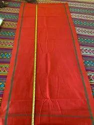 Unisex Plain Cotton Gamacha, Length 160 Centimeter, Orange And Red