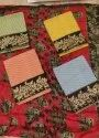 Cotton Embroidered Non Catalogue Dress Materials, Size: Free Size