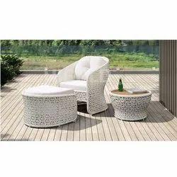 Fancy White Chair Set