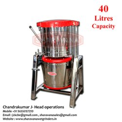 40 Litres Capacity Commercial Tilting Wet Grinder Heavy A  Type