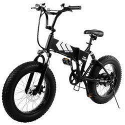 Swagtron EB-8 Foldable Fat Tire All- Terrain E Bike W/ Shimano 7-speed Sis Shifting