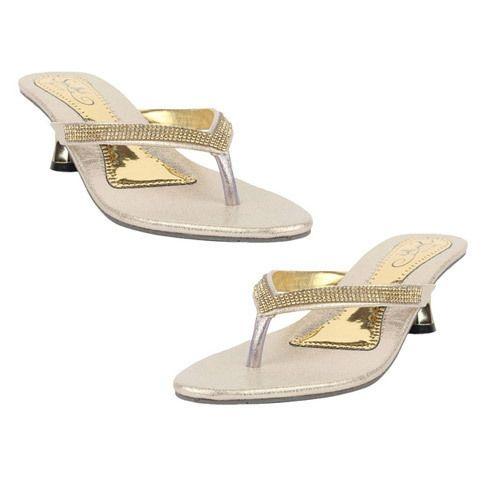 91cabc6d30e Leather Multicolor Low Heel Ladies Sandal