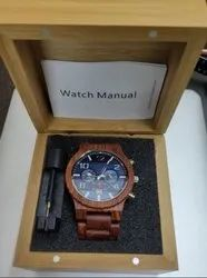 IM Men Bamboo wrist watch with Bamboo chain & dial., For Daily, Model Name/Number: ASF001Z
