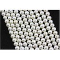 White Freshwater Pearl Beads Handmade Loose Gemstones