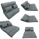 Floor Sofa Cum Bed - 90 Cm Wide - Grey