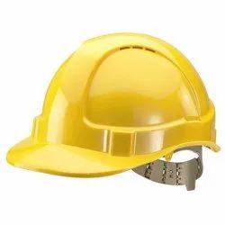 Yellow PVC Safety Headgear, For Construction, Industry