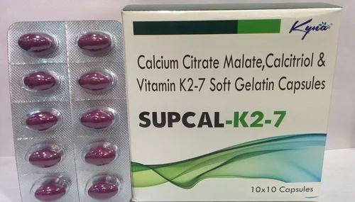 SupCal K2-7 Softgel Capsules, Packaging Type: Blister