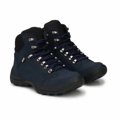 Manslam Navy Synthetic Leather Safety