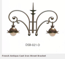 DSB-021-D Antique Cast Iron Street Bracket