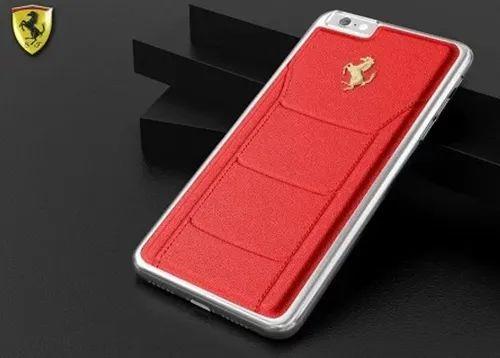 lowest price 770a5 4fb2b Ferrari Apple iPhone 7 Plus Official 599 GTB Logo Double Stitched ...