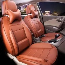 4 Wheeler Front & Back BMW Brown Leather Car Seat Cover, Features: Waterproof
