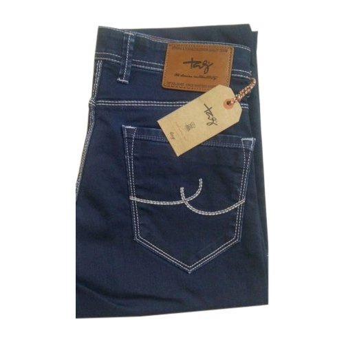 Tag Men' s Blue Cotton Jeans