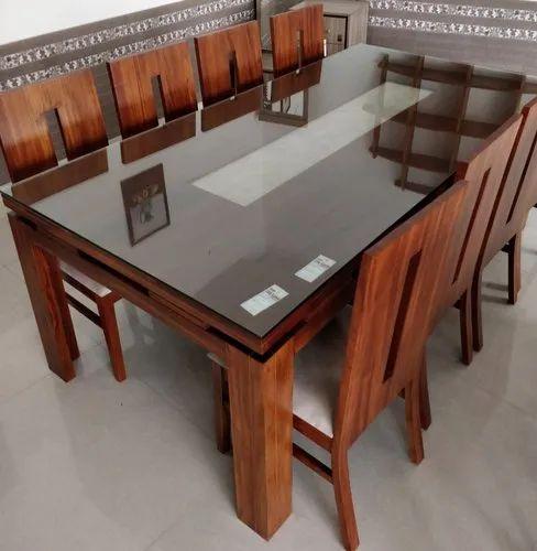 Teak Wood Dining Set For Home Rs 96000, Teak Wood Dining Room Table