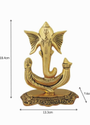 Gold Plated Ganesha Statue