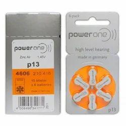 P13 Power One Zinc Air Hearing Aid Batteries
