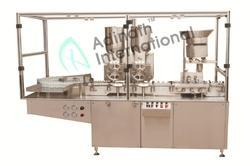 Automatic Vial Filling And Stoppering Machine