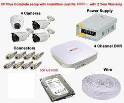 CP Plus 4 Channel CCTV Camera Set Up