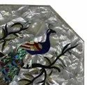 Marble Table Top Precious Stone Inlay Work