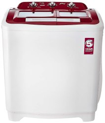 Godrej 7 kg Semi Automatic Top Load Washing Machine, GWS 7002, Red & White