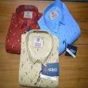 Mens Satin Fancy Cotton Printed Shirts