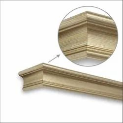 Straight Brush Gold Window Pelmets