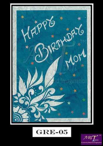 Rectangle Designer Birthday Handmade Greeting Card