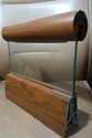 Aluminium wooden finish glass Railing