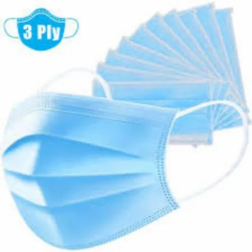 Ear Loop Non Woven 3 Ply Disposable Mask