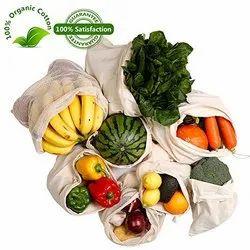 Vegetable Cotton Drawstring Bag
