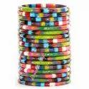 Multi Layered Multi Color - Resin Bangle Bracelets