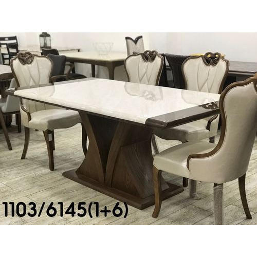 Four Seater Marble Dining Table