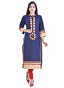 Heavy Mirror Work Embroidery Kurti