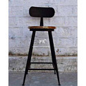 Vintage Outdoor Furniture - Iron Frame Bar Chair