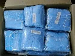 sky blue Polyester Medical Safety Equipment